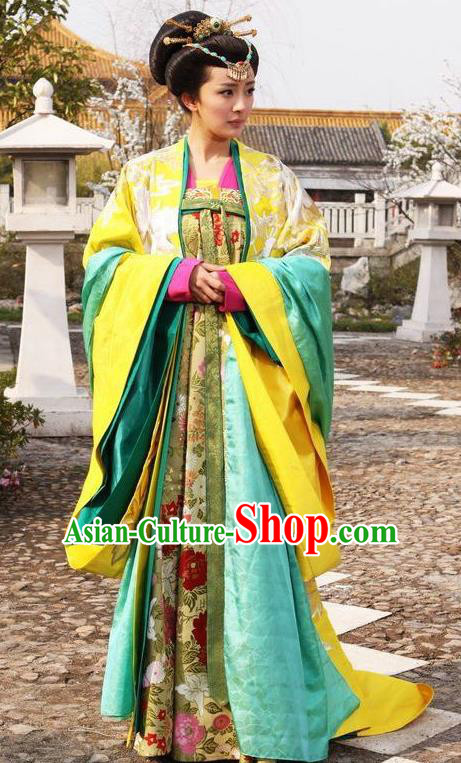 Ancient Chinese Tang Dynasty Imperial Consort of Li Zhi Hanfu Dress Replica Costume for Women