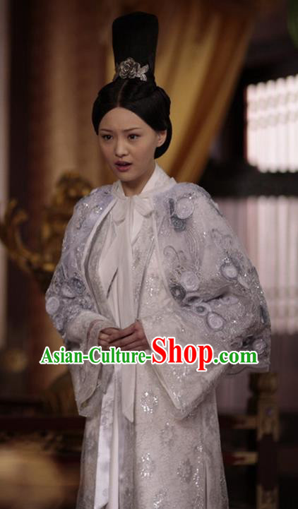Ancient Chinese Tang Dynasty Princess Taiping Embroidered Hanfu Dress Replica Costume for Women