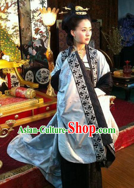 Chinese Tang Dynasty Empress Wang Historical Costume Ancient Queen of Li Zhi Replica Costume for Women
