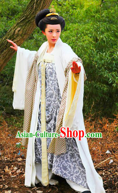 Chinese Tang Dynasty Historical Costume Ancient Imperial Consort of Li Zhi Hanfu Dress Replica Costume for Women