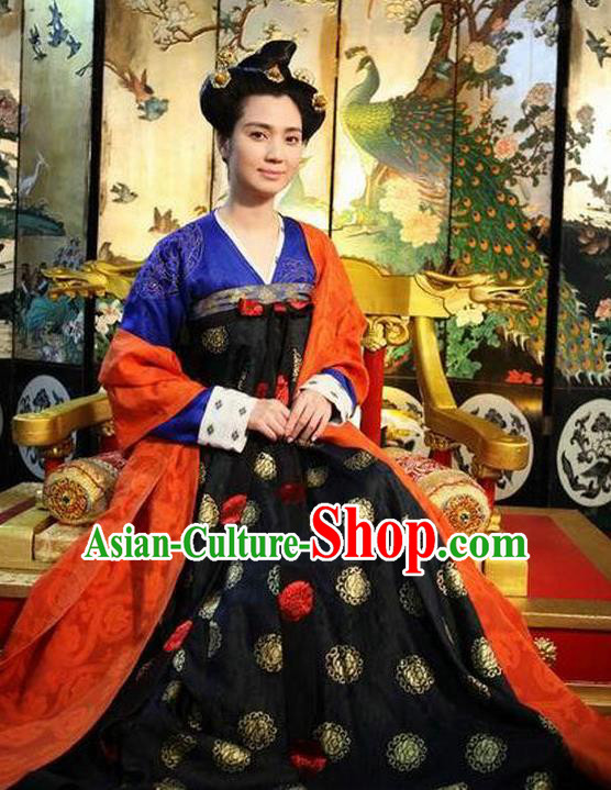 Chinese Tang Dynasty Historical Costume Ancient Palace Female Officials Dress Replica Costume for Women