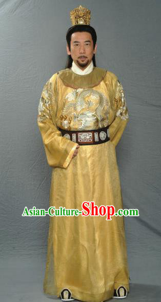 Traditional Chinese Ancient Imperial Robe Emperor Huizong of Song Dynasty Zhao Ji Replica Costume for Men