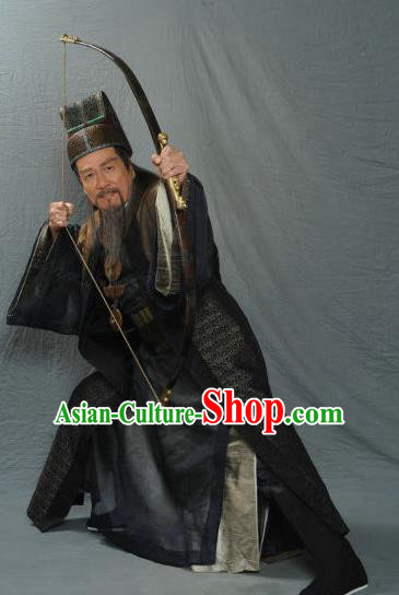 Traditional Chinese Ancient Prime Minister Song Dynasty Chancellor Replica Costume for Men
