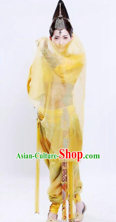 Chinese Ancient Tang Dynasty Loulan Geisha Hanfu Dance Dress Historical Costume for Women