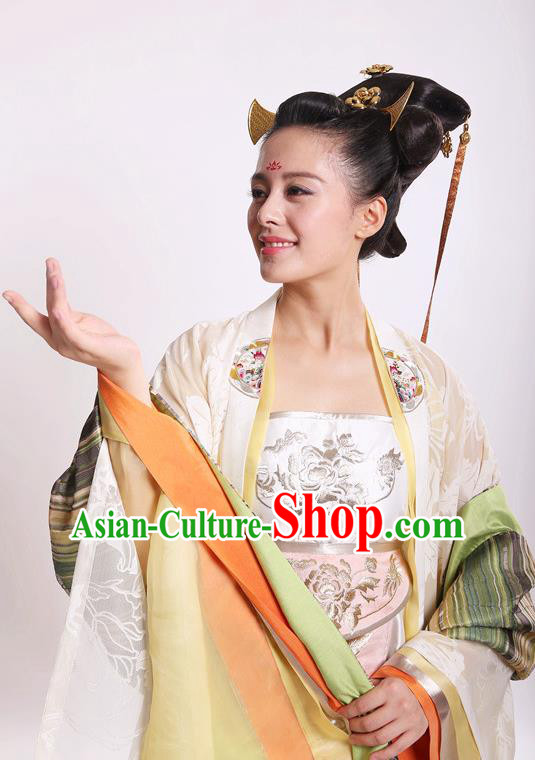 Chinese Ancient Tang Dynasty Nobility Lady Hanfu Dress Historical Costume for Women