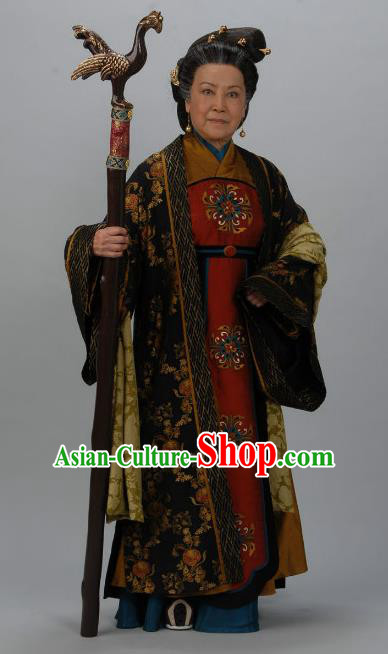 Chinese Ancient Tang Dynasty Dowager Countess Hanfu Dress Historical Costume for Women