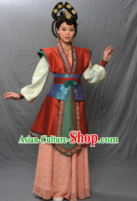 Chinese Ancient Tang Dynasty Courtesan Dance Hanfu Dress Historical Costume for Women