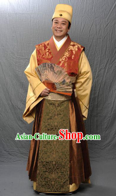 Chinese Ancient Tang Dynasty Nobility Childe Replica Costume for Men