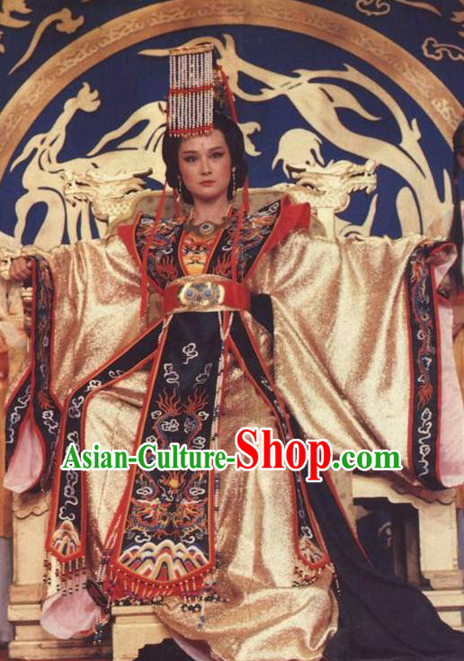 Chinese Ancient Tang Dynasty Empress Wu Zetian Dress Queen Wu Meiniang Historical Costume for Women