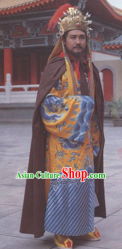 Chinese Ancient Tang Dynasty Emperor Li Zhi Replica Costume for Men