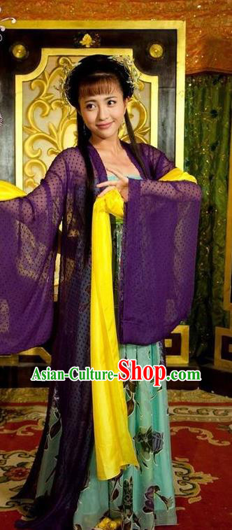 Chinese Ancient Tang Dynasty Geisha Courtesan Entertainer Dance Dress Historical Costume for Women