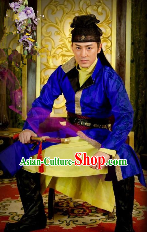Chinese Ancient Tang Dynasty Swordsman Replica Costume for Men