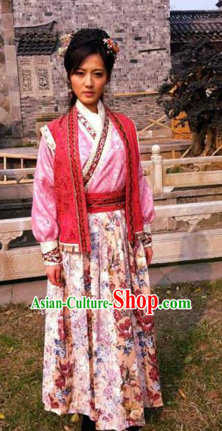 Chinese Ancient Tang Dynasty Swordswoman Dress Historical Costume for Women