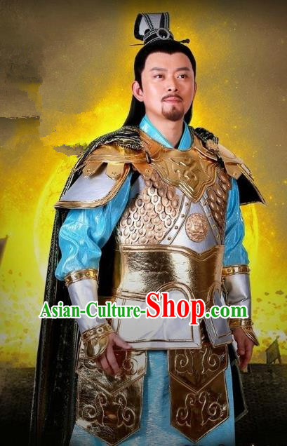 Chinese Ancient Tang Dynasty Swordsman General Xue Dingshan Replica Costume for Men
