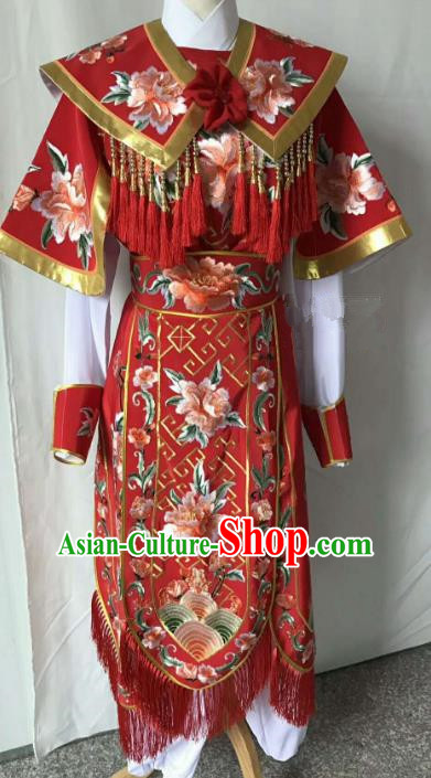 Top Grade Chinese Beijing Opera Female General Dress China Peking Opera Embroidered Costume