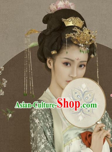 Chinese Ancient Hair Accessories Hair Clip Golden Hairpins Headwear Complete Set for Women