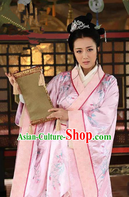 Chinese Three Kingdoms Period Princess Costume Ancient Palace Lady Embroidered Dress for Women