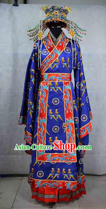 Chinese Ming Dynasty Empress Costume Ancient Palace Lady Embroidered Dress and Headpiece for Women