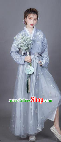 Chinese Ancient Embroidered Costume Traditional Princess Hanfu Dress for Women