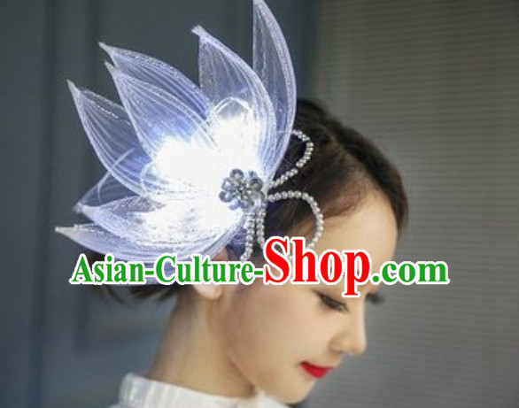 LED Lights Hair Accessories Heapieces
