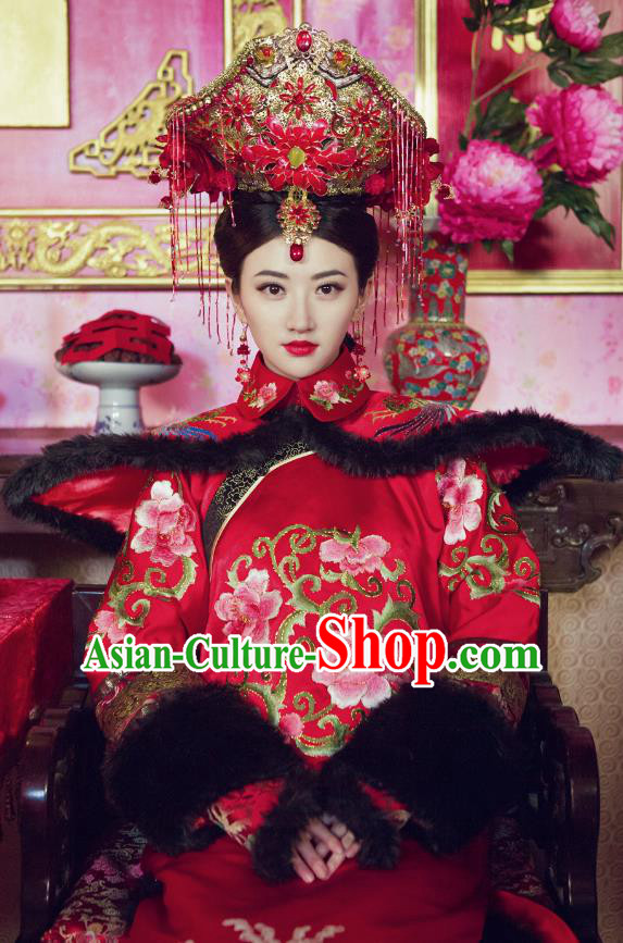 Chinese Traditional Palace Lady Historical Costume China Qing Dynasty Empress Xiaozhuang Clothing