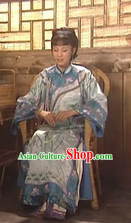 Chinese Traditional Palace Lady Historical Costume China Qing Dynasty Kangxi Fragrant Concubine Clothing