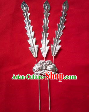 Traditional Chinese Miao Nationality Hair Accessories Hairpins Headwear Hmong Hair Clip for Women