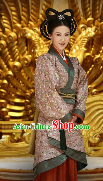 Ancient Chinese Han Dynasty Countess of Major General Wei Qing Hanfu Dress Replica Costume for Women
