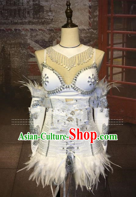 Model Dance Costumes Popular Catwalks Bikini Costume Stage Drama Parade Costume Complete Set