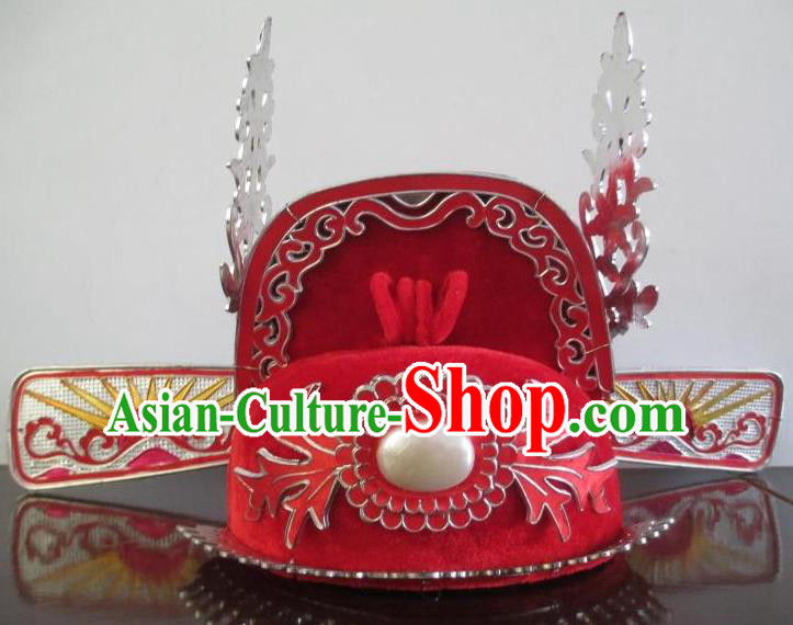Traditional China Beijing Opera Niche Hair Accessories Ancient Chinese Peking Opera Lang Scholar Hats Headwear