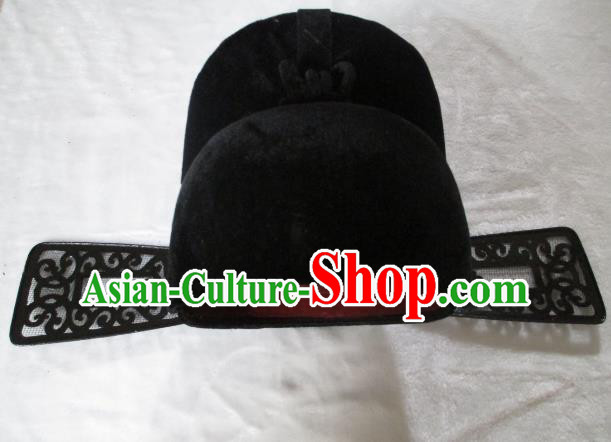 Traditional Chinese Beijing Opera County Magistrate Hair Accessories Black Hats Headwear