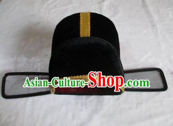 Traditional Chinese Beijing Opera Magistrate Hair Accessories Officer Black Hats Headwear