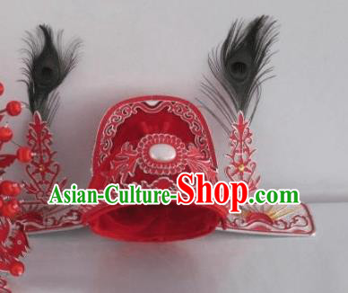 Traditional Chinese Beijing Opera Niche Hair Accessories Bridegroom Red Hats Peking Opera Scholar Headwear