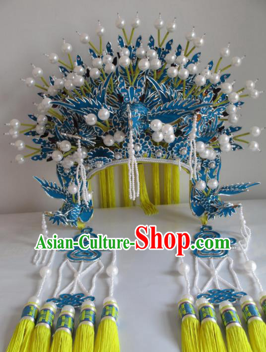 Traditional Chinese Beijing Opera Phoenix Coronet Hair Accessories Female Headgear Peking Opera Actress Headwear