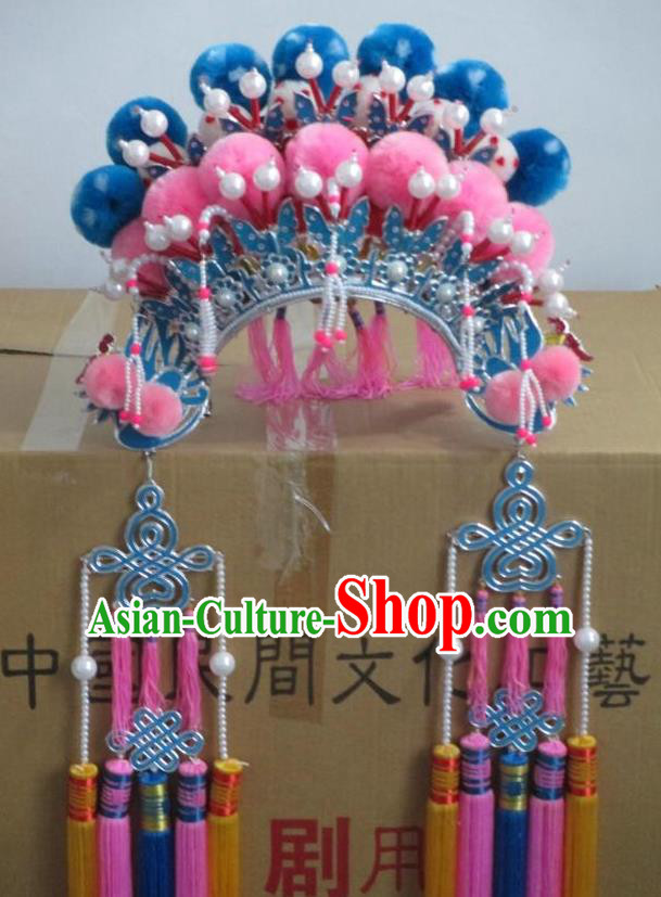 Traditional Chinese Beijing Opera Princess Phoenix Coronet Hair Accessories Female Headgear Peking Opera Actress Headwear