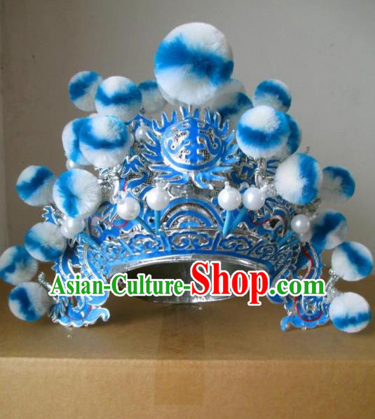Traditional Chinese Beijing Opera Helmet Hair Accessories Peking Opera General Hats Headwear