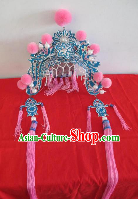 Traditional Chinese Beijing Opera Palace Lady Phoenix Coronet Peking Opera Actress Headwear