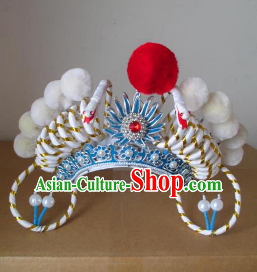 Traditional Chinese Beijing Opera Hair Accessories Swordswoman Phoenix Coronet Peking Opera Actress Headwear