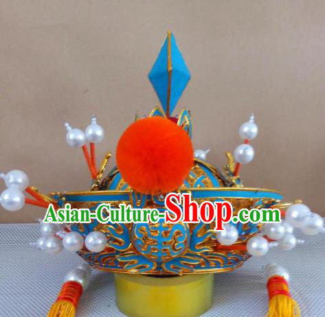Traditional Chinese Beijing Opera Royal Highness Hats Peking Opera Seignior Headwear
