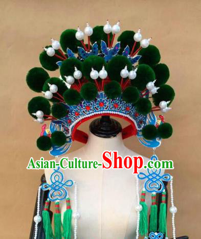 Traditional Chinese Beijing Opera Phoenix Coronet Hair Accessories Peking Opera Actress Hats Headwear