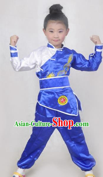 Traditional Chinese Folk Dance Costume, Children Martial Arts Kung Fu Clothing for Kids