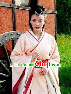 Ancient Traditional Chinese Han Dynasty Palace Lady Replica Costume Imperial Concubine Hanfu Dress for Women