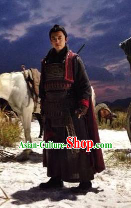 Traditional Ancient Chinese Han Dynasty Guangwu Emperor Liu Xiu Armor Replica Costume for Men
