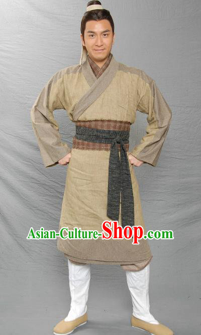 Traditional Ancient Chinese Three Kingdoms Livehand Replica Costume for Men
