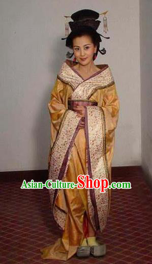 Ancient Traditional Chinese Han Dynasty Imperial Concubine Fu Hanfu Dress Replica Costume for Women