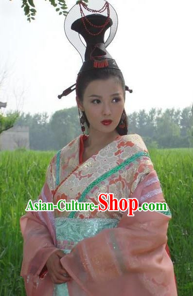 Ancient Chinese Han Dynasty Court Princess Wang Zhaojun Hanfu Dress Replica Costume for Women