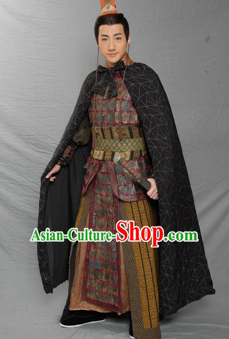 Traditional Chinese Three Kingdoms Period Feudal Provincial Liu Cong Replica Costume for Men