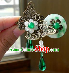 Chinese Ancient Handmade Hair Accessories Hairpins Classical Hanfu Butterfly Hair Claw for Women