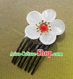 Chinese Ancient Handmade Hair Accessories Hairpins Classical Hanfu Flowers Hair Comb for Women