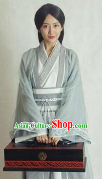 Chinese Ancient Wei and Jin Dynasties Female Physician Hanfu Dress Replica Costume for Women